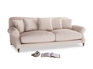 Large Crumpet Sofa in Faded Pink brushed cotton