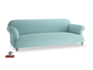 Extra large Soufflé Sofa in Adriatic washed cotton linen