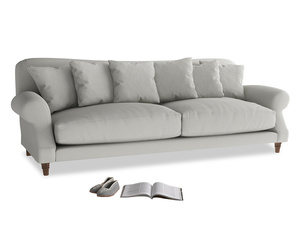 Extra large Crumpet Sofa in Mineral grey clever linen