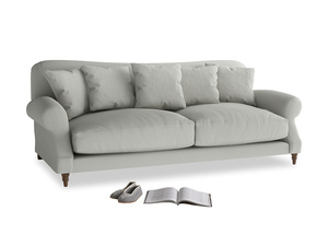 Large Crumpet Sofa in Mineral grey clever linen