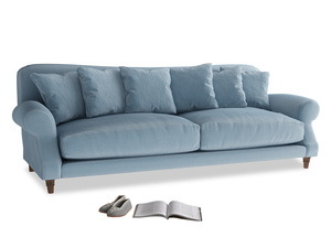 Extra large Crumpet Sofa in Chalky blue vintage velvet
