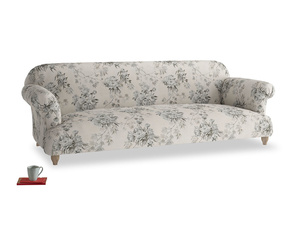 Extra large Soufflé Sofa in Dusty Blue vintage rose