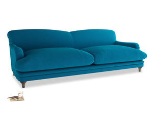 Extra large Pudding Sofa in Bermuda Brushed Cotton