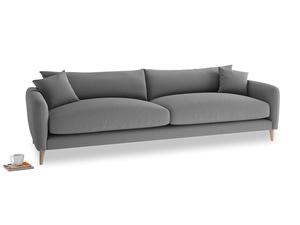 Extra large Squishmeister Sofa in Gun Metal brushed cotton