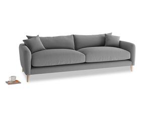 Large Squishmeister Sofa in Gun Metal brushed cotton
