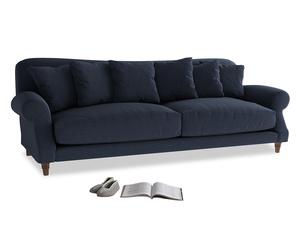 Extra large Crumpet Sofa in Indigo vintage linen