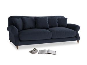 Large Crumpet Sofa in Indigo vintage linen