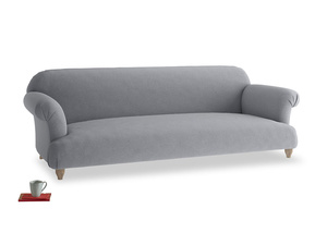 Extra large Soufflé Sofa in Dove grey wool