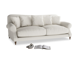 Large Crumpet Sofa in Oyster white clever linen