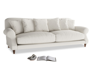 Extra large Crumpet Sofa in Oyster white clever linen