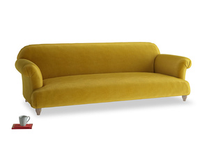 Extra large Soufflé Sofa in Burnt yellow vintage velvet