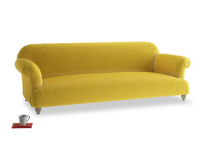 Extra large Soufflé Sofa in Bumblebee clever velvet