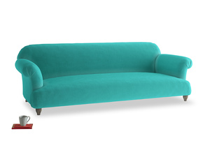 Extra large Soufflé Sofa in Fiji Clever Velvet