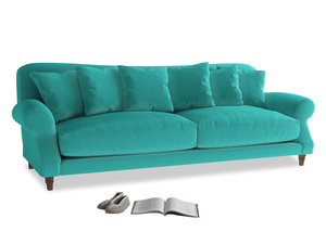 Extra large Crumpet Sofa in Fiji Clever Velvet