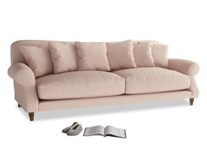 Extra large Crumpet Sofa in Pink clay Clever Softie