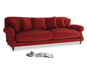 Extra large Crumpet Sofa in Rusted Ruby Vintage Velvet