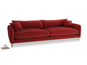 Extra large Squishmeister Sofa in Rusted Ruby Vintage Velvet