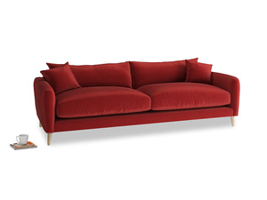 Large Squishmeister Sofa in Rusted Ruby Vintage Velvet