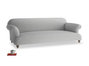 Extra large Soufflé Sofa in Pewter Clever Softie
