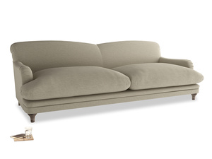 Extra Large Pudding Sofa in Jute Vintage Linen