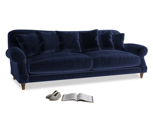 Extra large Crumpet Sofa in Goodnight blue Clever Deep Velvet