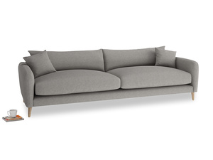 Extra large Squishmeister Sofa in Marl grey clever woolly fabric