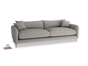Large Squishmeister Sofa in Marl grey clever woolly fabric