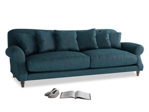 Extra large Crumpet Sofa in Harbour Blue Vintage Linen