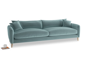 Extra large Squishmeister Sofa in Lagoon clever velvet