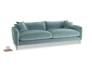 Large Squishmeister Sofa in Lagoon clever velvet