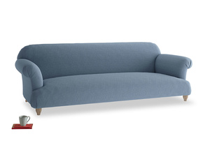 Extra large Soufflé Sofa in Nordic blue brushed cotton