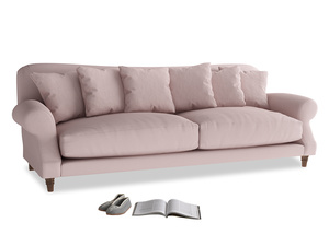 Extra large Crumpet Sofa in Potter's pink Clever Linen