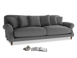 Extra large Crumpet Sofa in Ash washed cotton linen