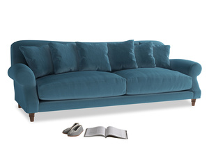 Extra large Crumpet Sofa in Old blue Clever Deep Velvet