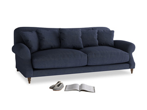 Large Crumpet Sofa in Seriously Blue Clever Softie