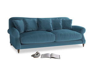 Large Crumpet Sofa in Old blue Clever Deep Velvet