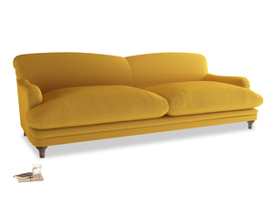 Extra large Pudding Sofa in Pollen Clever Deep Velvet