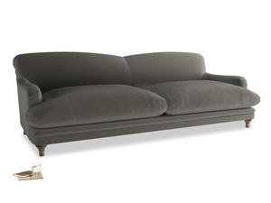 Extra large Pudding Sofa in Slate clever velvet