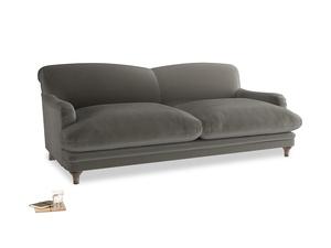 Large Pudding Sofa in Slate clever velvet