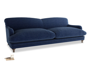 Extra large Pudding Sofa in Ink Blue wool