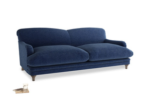 Large Pudding Sofa in Ink Blue wool