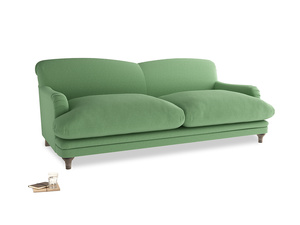 Large Pudding Sofa in Clean green Brushed Cotton