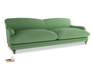 Extra large Pudding Sofa in Clean green Brushed Cotton