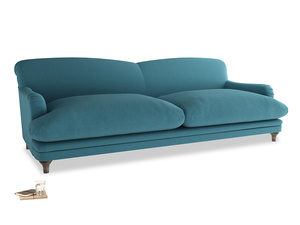 Extra large Pudding Sofa in Lido Brushed Cotton