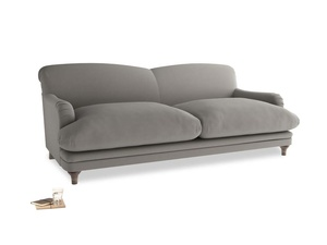 Large Pudding Sofa in Monsoon grey clever cotton