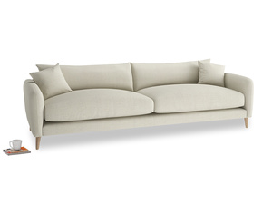 Extra large Squishmeister Sofa in Stone Vintage Linen