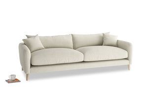 Large Squishmeister Sofa in Stone Vintage Linen