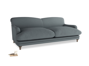 Large Pudding Sofa in Meteor grey clever linen
