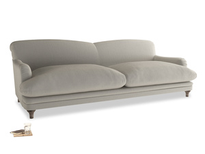 Extra large Pudding Sofa in Smoky Grey clever velvet