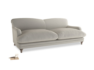 Large Pudding Sofa in Smoky Grey clever velvet